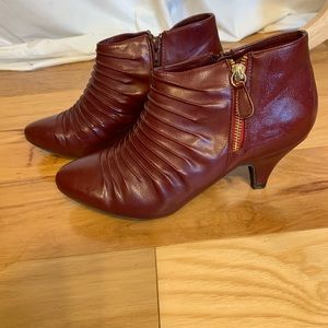 Rialto salina 3 inch heel faux leather ankle boots